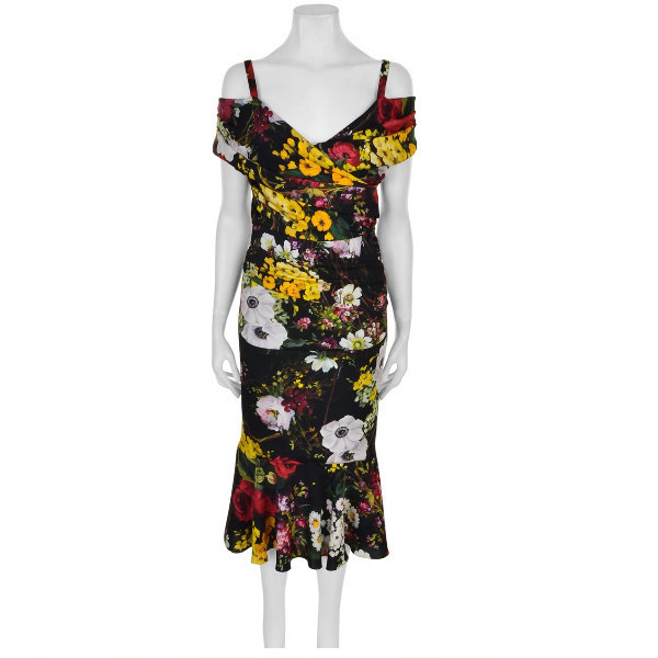 ★Dolce&Gabbana★Bouquet Off The Shoulder Dress