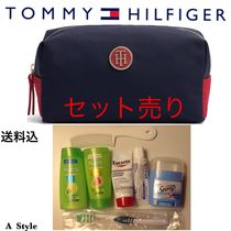 Tommy Hilfiger(トミーヒルフィガー) メイクポーチ 【Tommy Hilfiger】メイクアップ ポーチ+トラベルキット