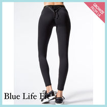 Blue Life FIT(ブルーライフフィット) フィットネスボトムス 【Blue Life FIT】新作☆バックレースアップ レギンス☆