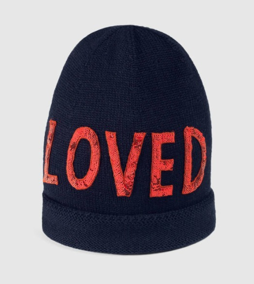 """17AW☆GUCCI☆""""Loved"""" 付き ウールハット"""