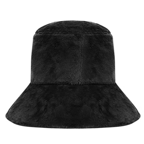 ★ OPEN THE DOOR★fur bucket hat (black)