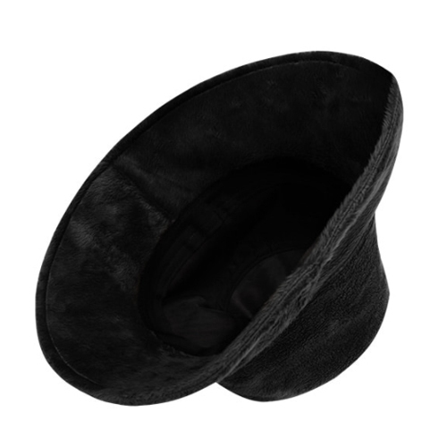 ★ OPEN THE DOOR★fur bucket hat(black)