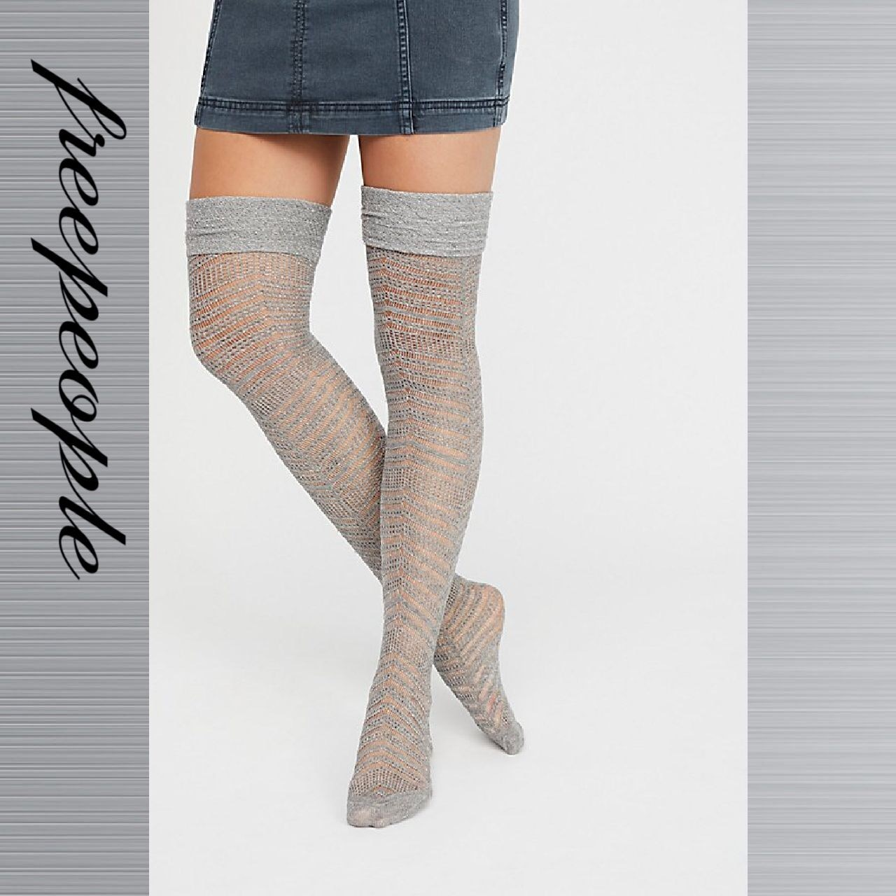 Free People フリーピープル Outshine Over-The-Knee ソックス