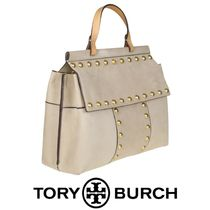 TORY BURCH Block-T Suede with Studs Bag 関税送料込