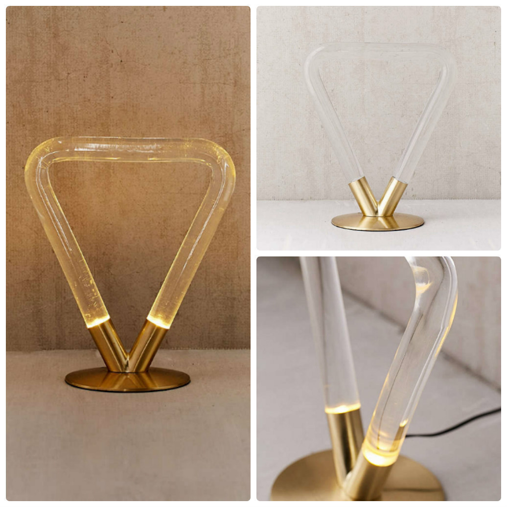 追跡・補償あり【宅配便】Helios Acrylic Triangle Table Lamp