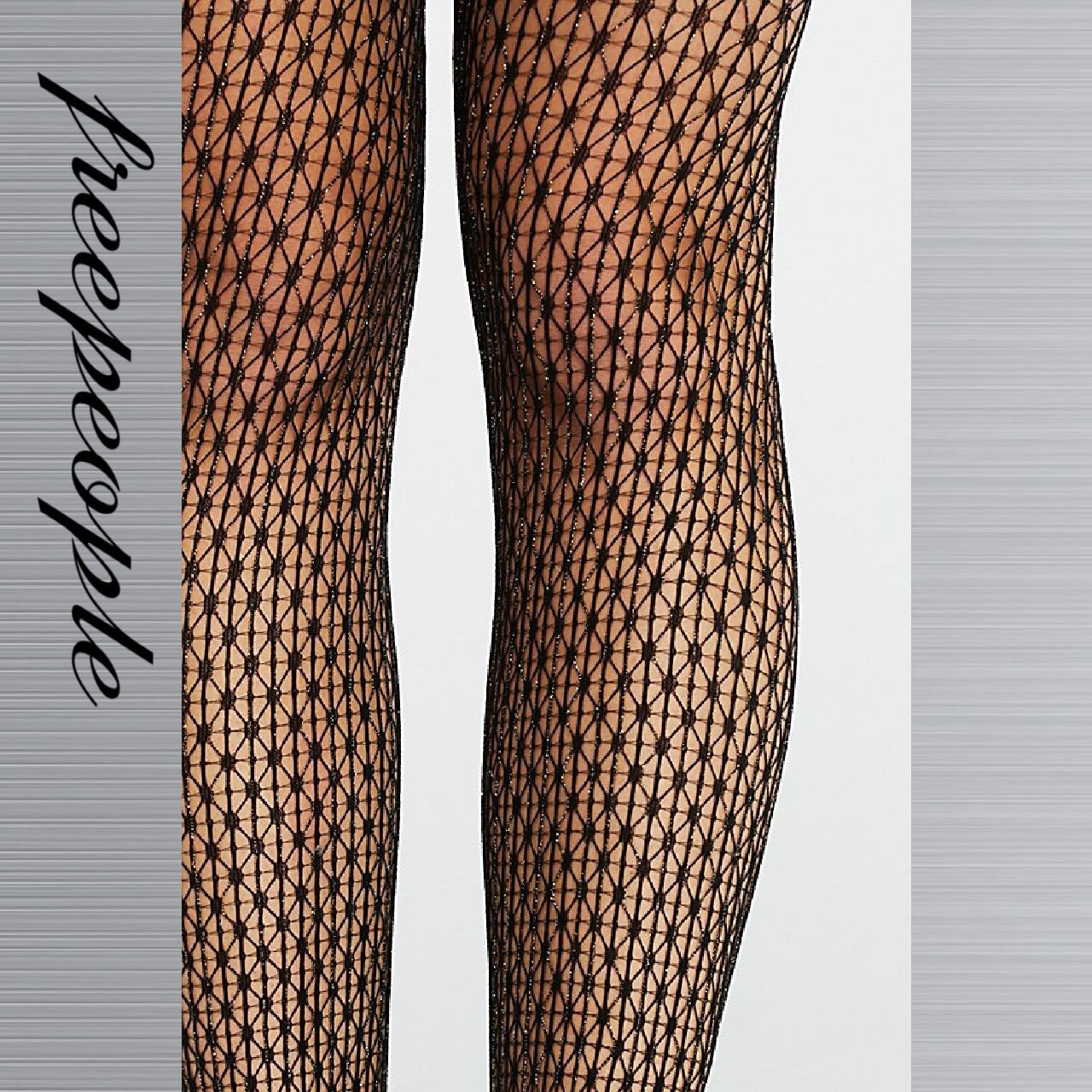Free People フリーピープル Moonage Lurex Fishnet タイツ