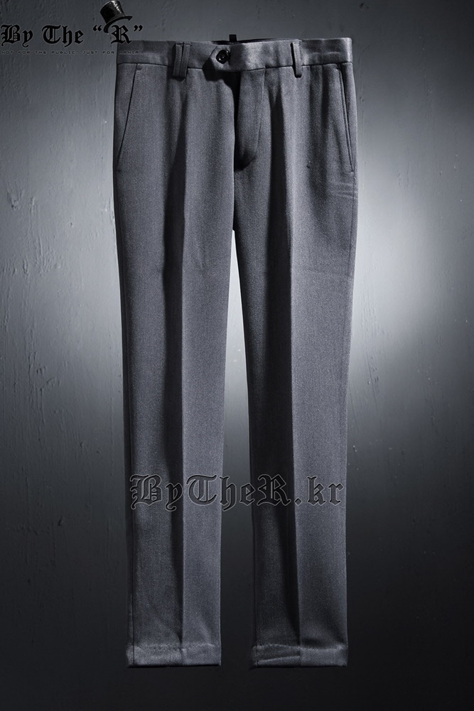 ★韓国の人気★BTHR★Slim Straight Line Napping Slacks★