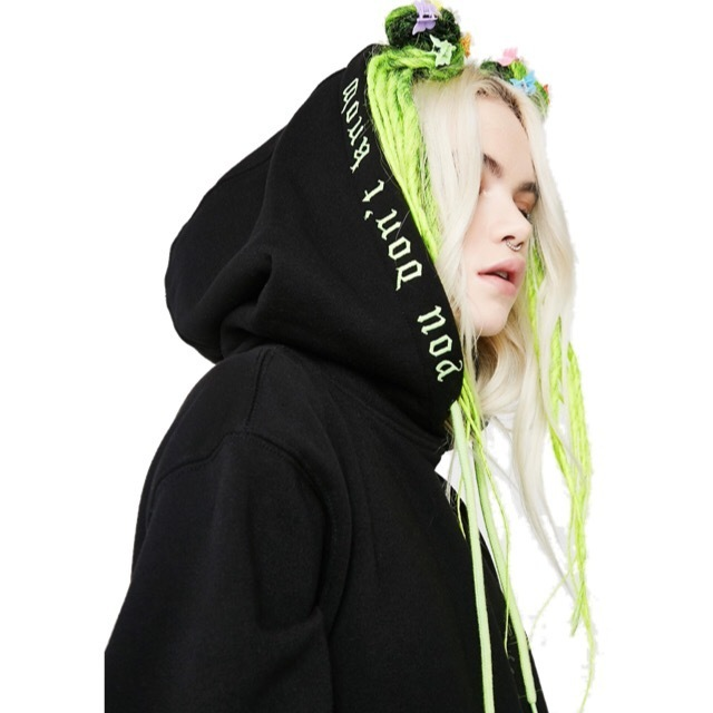 送料/関税込 †DOLLS KILL† NO JUDGEMENT EMBROIDERED HOODIE