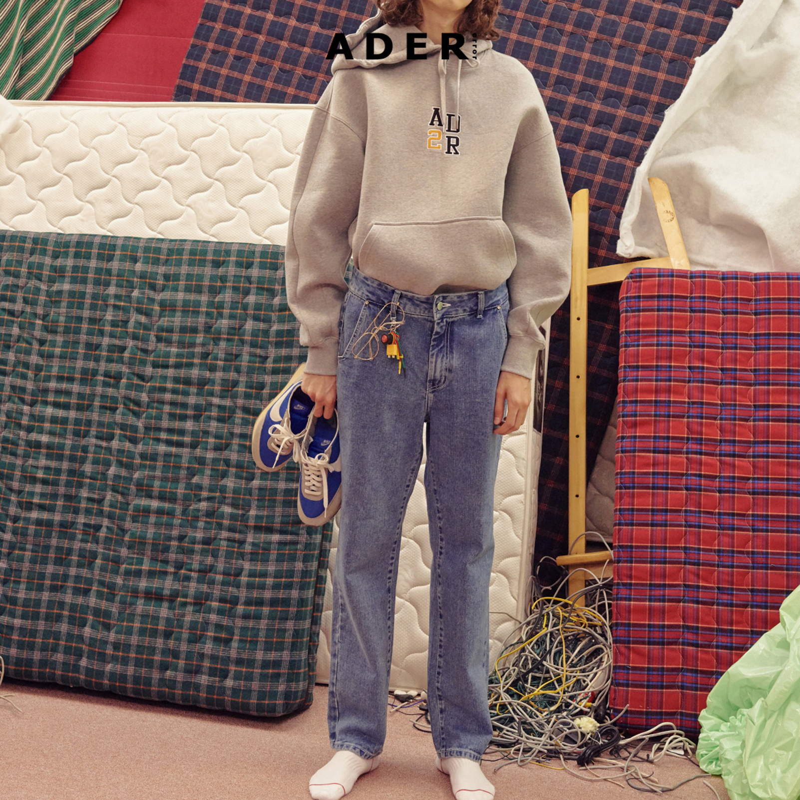 ★ADERERROR★ BNMT patch jeans