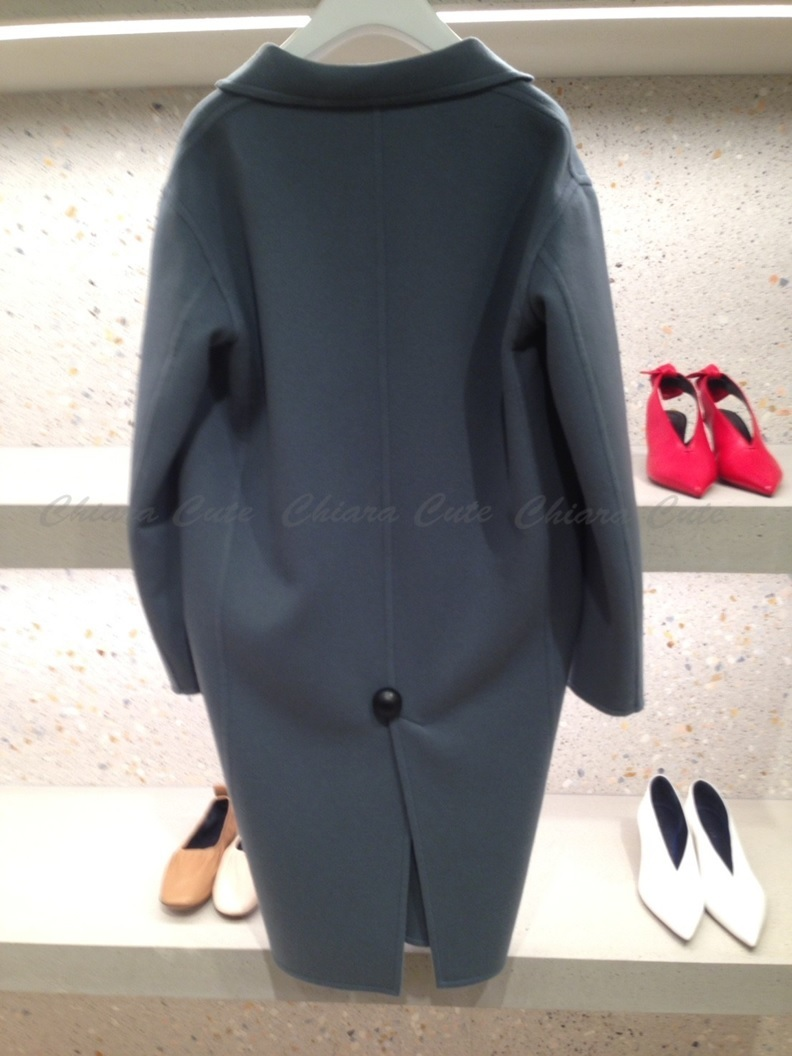 【17aw NEW】CELINE_women / DOUBLE FACE CASHMERE/コート/青