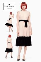 【kate spade new york】100% シルクMIXED VELVET CHIFFON DRESS