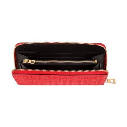LOEWE★ロエベ Zip Around Wallet Primary Red