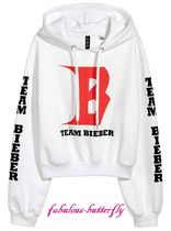 国内発送 H&M×PURPOSE TOUR Justin Bieber ショートパーカー WH