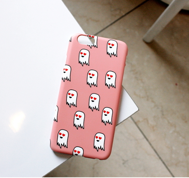 Love Ghost Iphone case ラブゴーストパターンiPhoneケース
