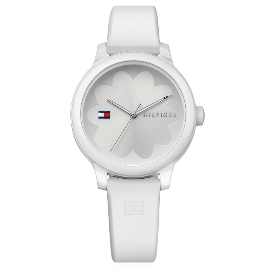 Tommy Hilfiger  White Silicone Strap Watch 38mm