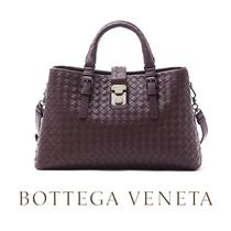 18SS ☆BOTTEGA VENETA☆ SMALL ROMA 2wayバッグ DARK BAROLO♪