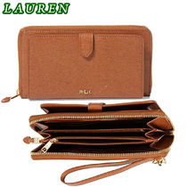 期間限定セール! Ralph Lauren Saffiano Everything Wristlet