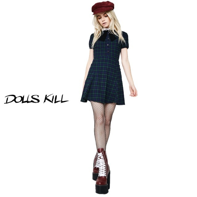 送料/関税込 †DOLLS KILL† ANNA KARINA DRESS