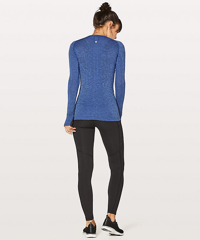 新色★lululemon★Swiftly Tech Long Sleeve Crew★Blazer Blue