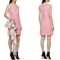 18SS DG1370 WOOL FLARE DRESS WITH LABEL