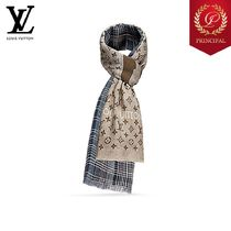 ◆Louis Vuitton ルイヴィトン メンズ ロゴ Cashmere マフラー