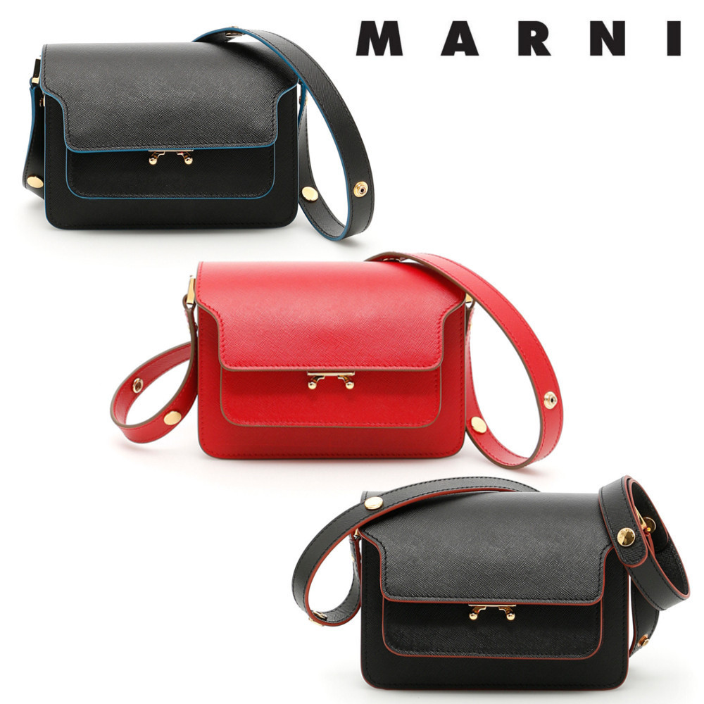 vip sale! MRNI マルニ レザー Trunk  Mini Bag/SBMPS01U07LV520