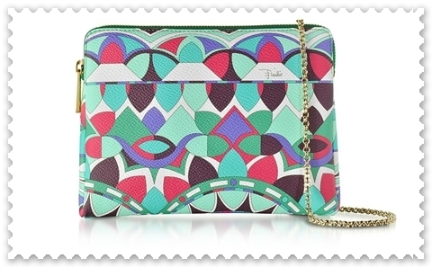 ◇EMILIO PUCCI◇Optical Printed Leather Clutch【関税送料込】