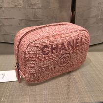 CHANEL 2017年 新作 ジャガード Deauville ピンク ポーチ