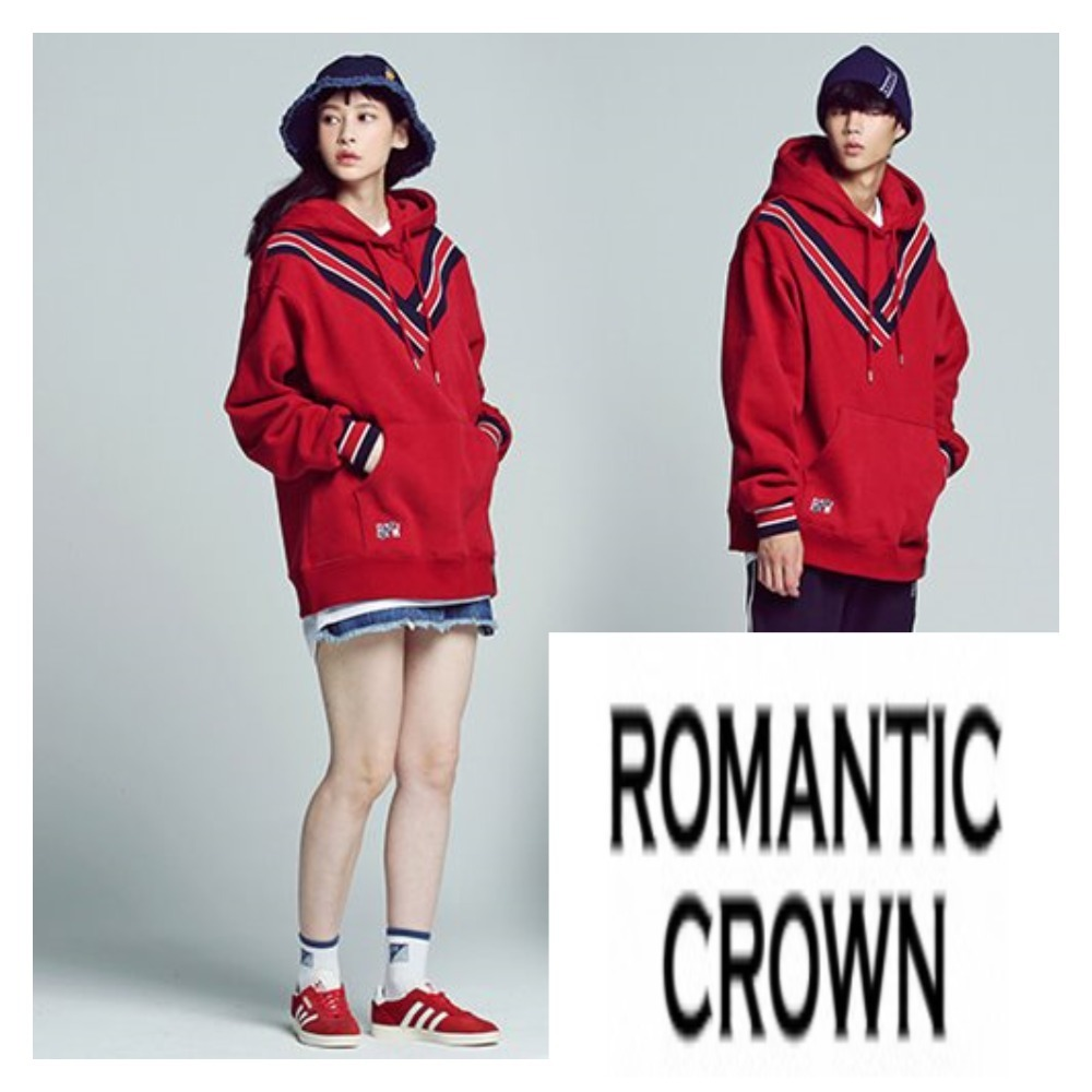 ☆★ROMANTIC CROWN☆★Band Line Hoodie☆★レッド☆★