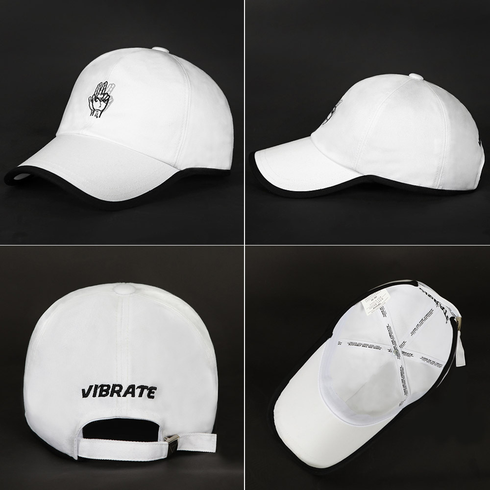 【VIBRATE】ROUND PATCH HAND LOGO ボールキャップ(3 color)
