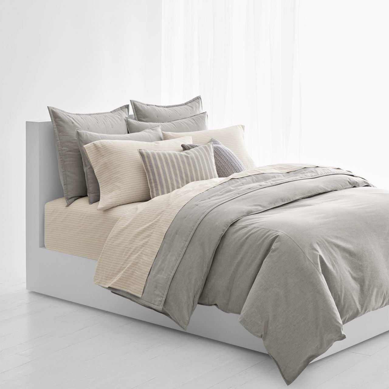 ○送料込○ Graydon Striped Duvet Cover