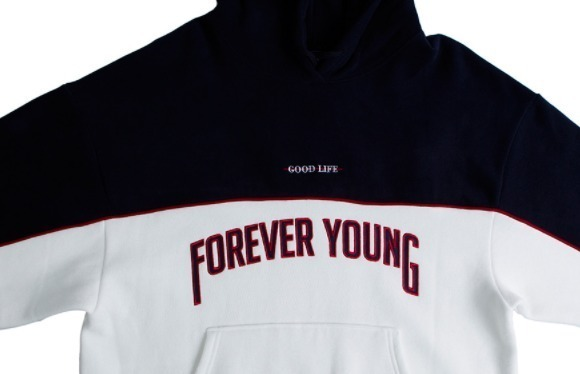 ☆★ROMANTIC CROWN☆★Forever Young Piping Hoodie Uni☆★