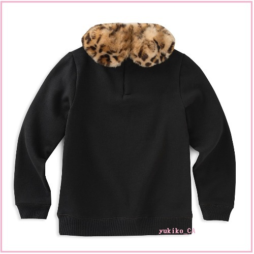 【大人もOK】STUDDED SWEATSHIRT FAUX-FUR COLLAR セール