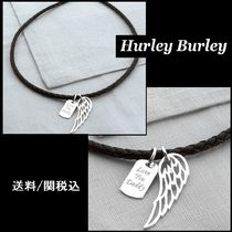 HURLEY BURLEY(ハーレーバーリー) ネックレス・チョーカー 【HURLEY BURLEY】Silver Wing And Dogtag Leather Necklet ♪
