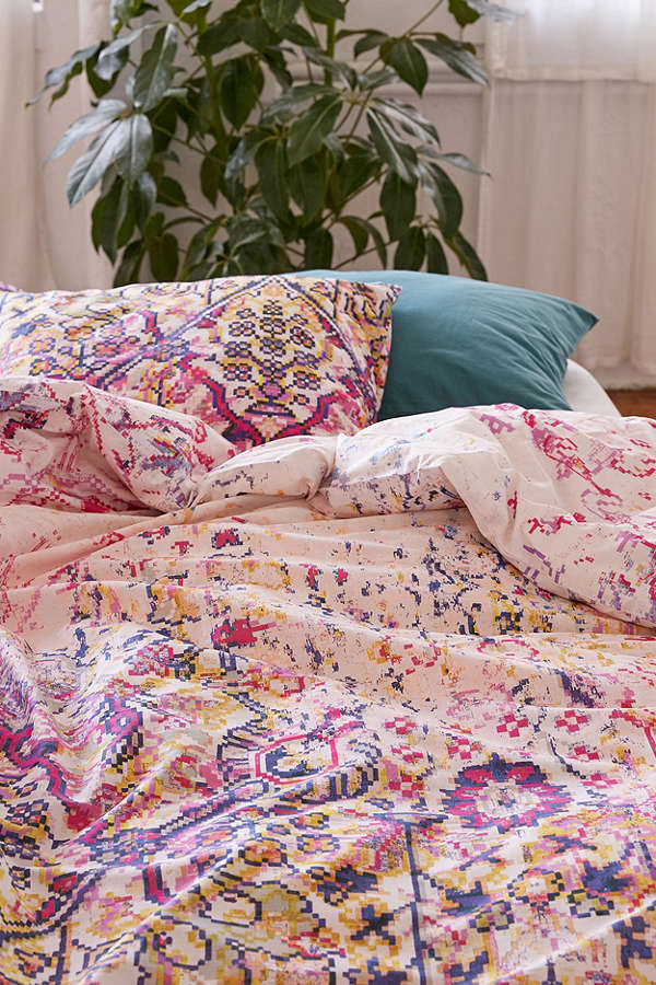 Urban Outfitters Maya Worn Carpet Duvet Cover ベッドカバー