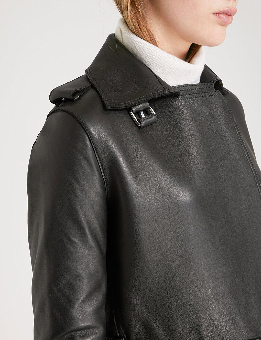 【海外限定】REISS レザーコート☆Emmerson leather trench coat