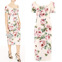 18SS DG1380 ROSE & BUTTERFLY PRINTED CADY DRESS