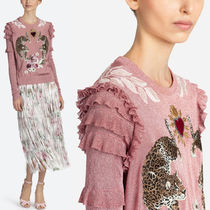 18SS DG1381 LUREX SWEATER WITH APPLIQUE