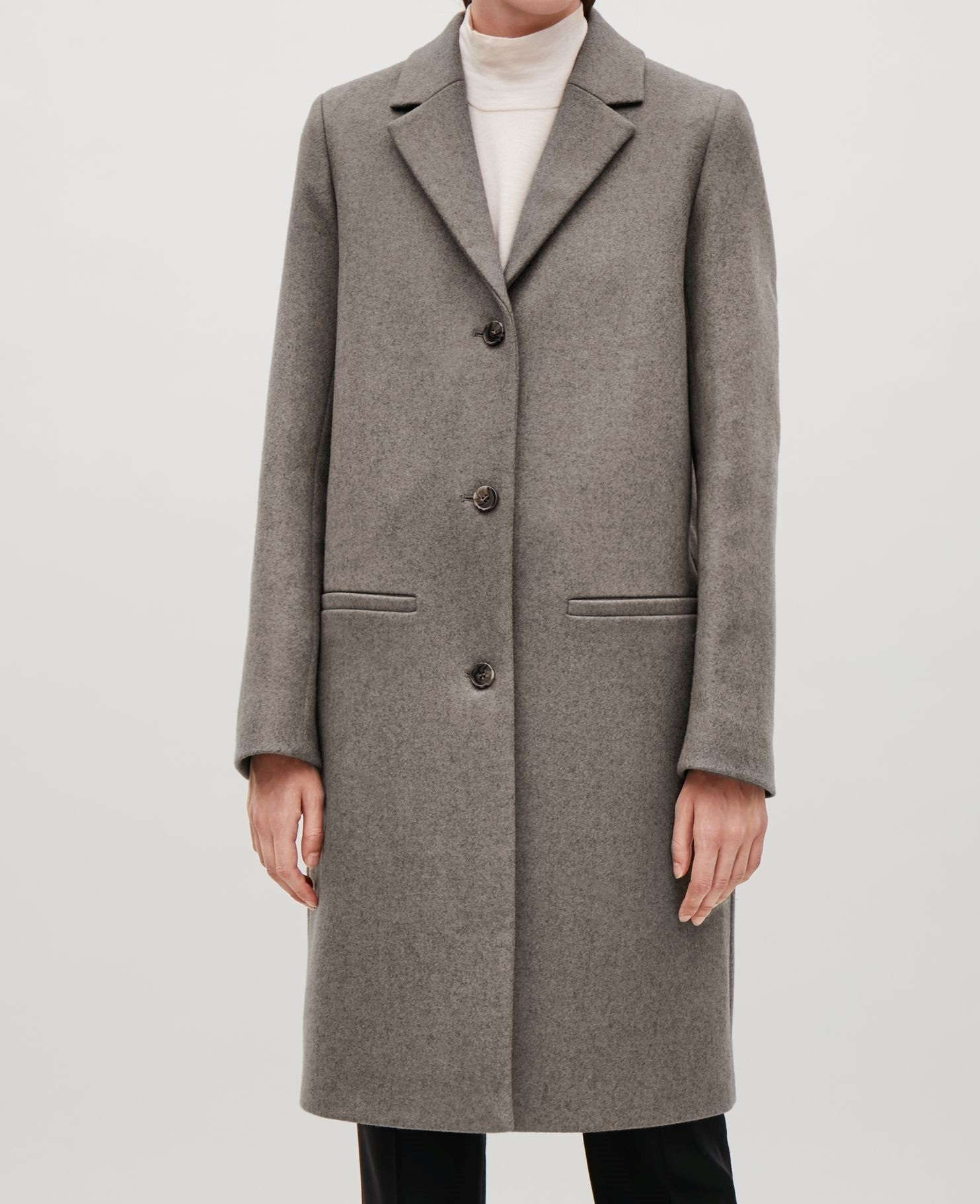 """COS""TAILORED WOOL COAT TAUPE"