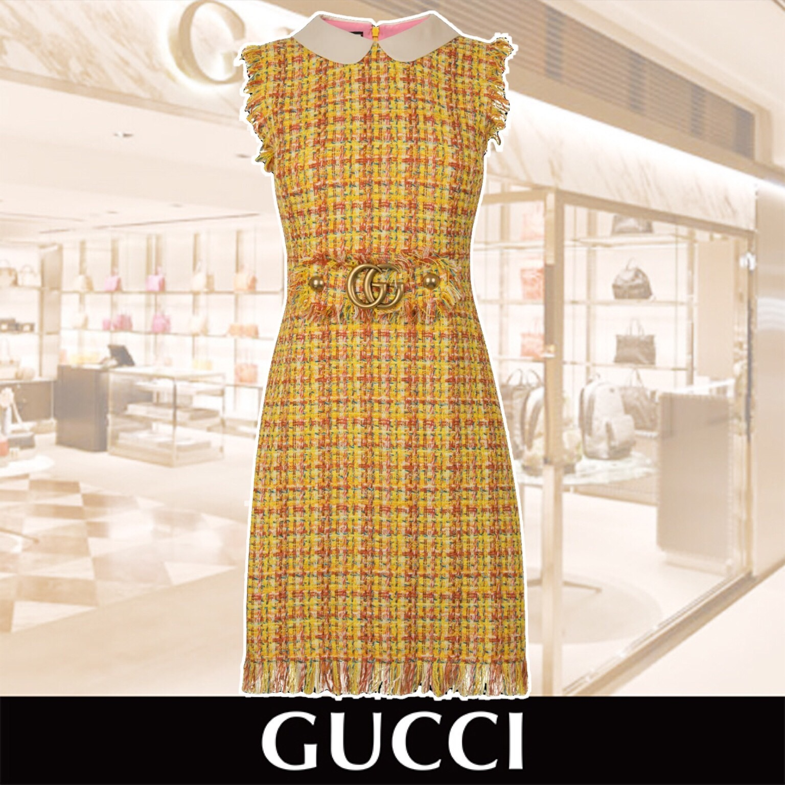 GUCCI  Tweed GG Dress 関税送料込