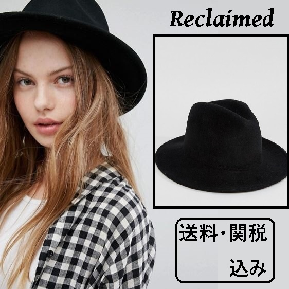 Reclaimed Vintage Inspired ウール フェドラ ハット