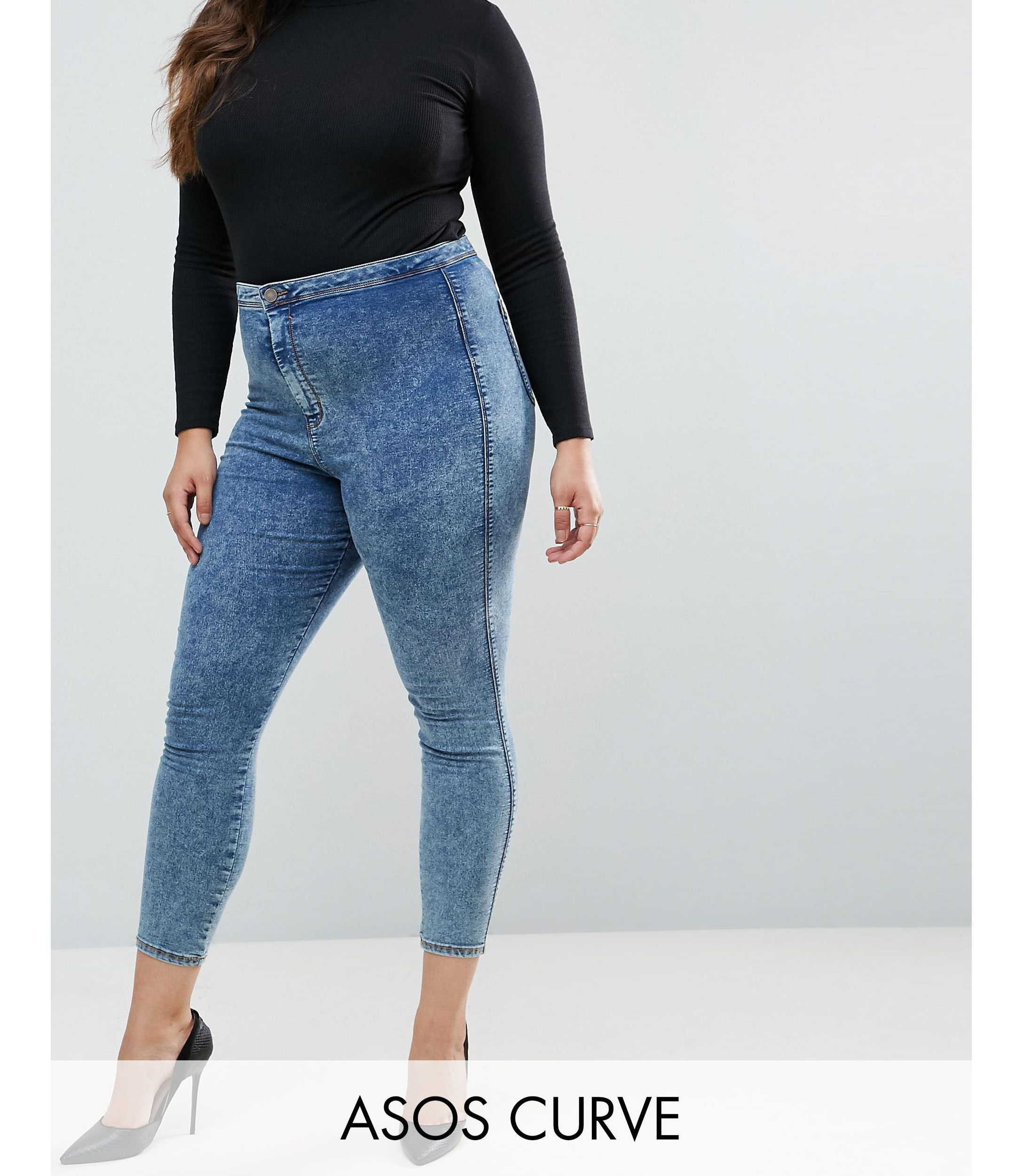 ★ASOS★ CURVE RIVINGTON High Waist デニム Jeggings  Rumer