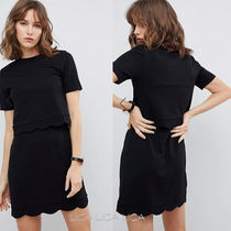 国内発送 ASOS Scalloped Hem Mini Dress With Crop Top
