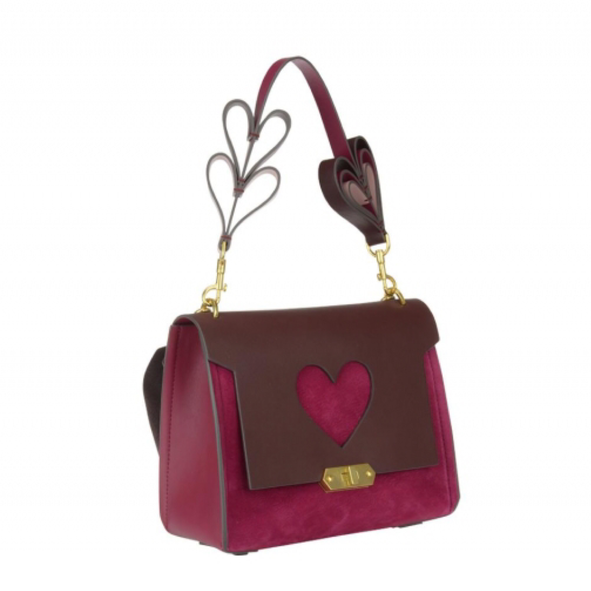 新作【Anya Hindmarch】BATHURST XS HEART ショルダー Raspberry