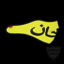 FW7 SUPREME ARABIC LOGO NEOPRENE FACEMASK YELLOW 送料無料
