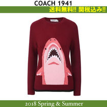 18SS関税込♪大注目★Coach(コーチ)Sharky intarsia pullover