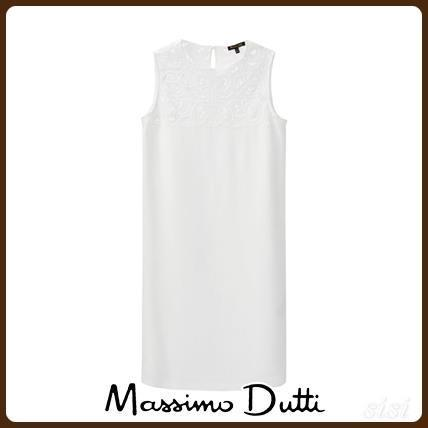 MassimoDutti♪DRESS WITH LACE DETAIL