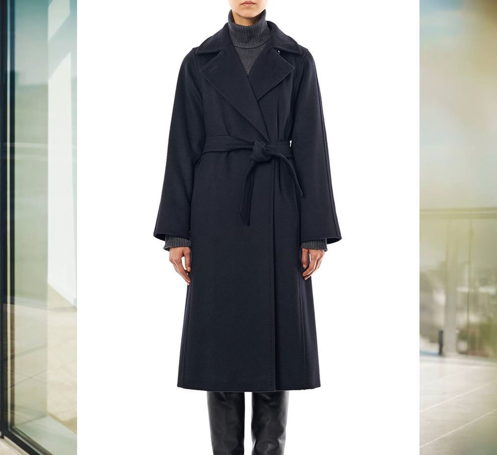 【国内発送】MAX MARA Manuela coat Navy-blue