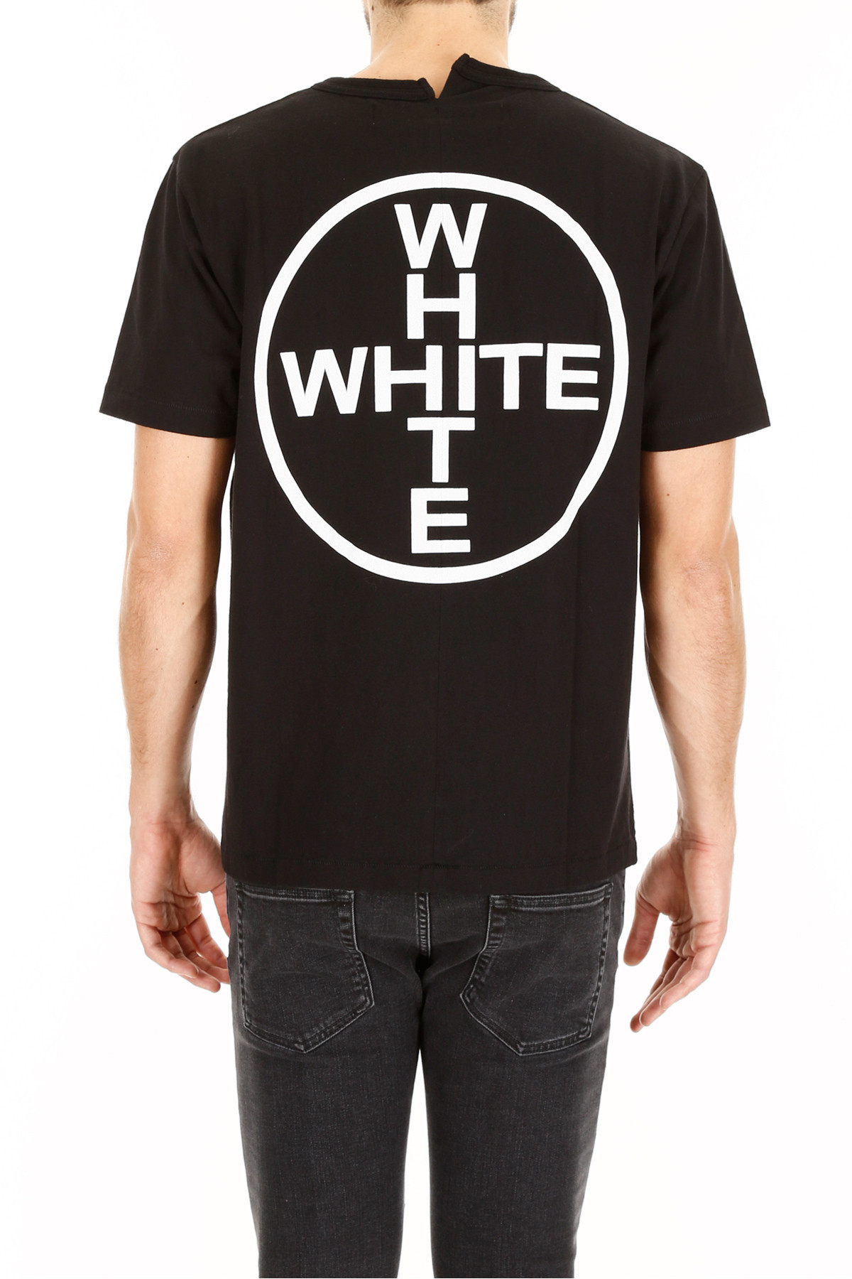 OFF WHITE Cotton Jersey Printed T-Shirt