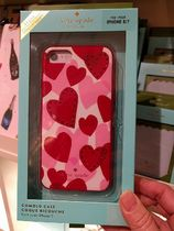 ハート♥柄が可愛い☆kate spade jeweled heart-iphone7/8